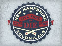 New_hampshire_colonials #graphic design #logo #usa #patriotic #new hampshire