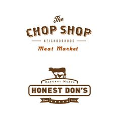 The Chop Shop and Honest Don's #market #food #logos #branding