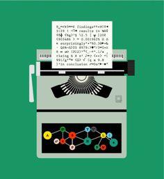 typewriter-by-robert-samuel-hanson1.png (PNG Image, 488x533 pixels) #hanson #illustrator #robert #typewriter
