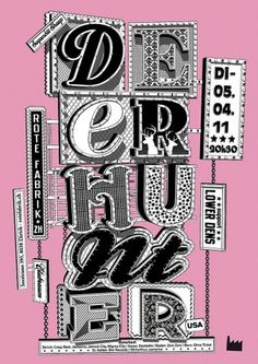 Stephan Walter #visual #lettering #monotone #typography