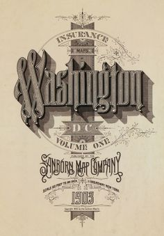 All sizes | Washington DC 1903 | Flickr - Photo Sharing! #design #typeography