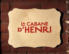 La cabane d'Henri on Behance #logo #design #graphic #identity