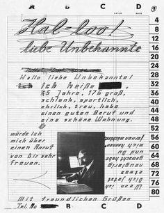 Hallo liebe Unbekannte : Anne Vagt #black #white #poster #and