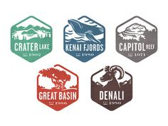 National Parks Badges #logo #branding #identity