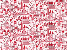 LOVERS TOWN - Jonathan Calugi #illustration #pattern