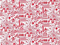 LOVERS TOWN - Jonathan Calugi #illustration #pattern