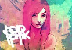POP PINK by ~wataboku on deviantART #pink #illustration #color #pop
