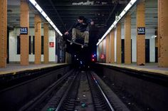 Image of The New York Times Highlights New York Skate Photographer Allen Ying #woa #times #underground #daredevil #photograph #subway #tracks #york #skateboard #new