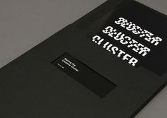 Cluster - joshdavey.net #cluster #competition #print #design #graphic #istd #publication #anamorph #custom #type #anamorphic #blackandwhite #student #typography