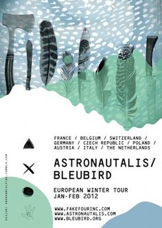 Andrew McAlpine ///// Graphic Design //////// #feather #landscape #bleubird #poster #astronautalis #knife