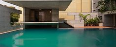 shatotto constructs a private concrete oasis: mamun residence #pool