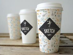 Coffee cup branding #packaging #graphic design #coffee
