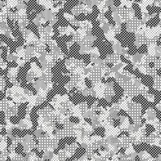 Camouflage Pattern Rendered with MacPaint Patterns, 6 #camouflage #pattern