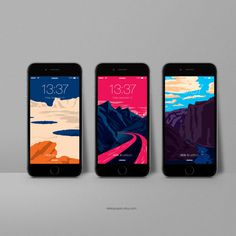 iPhone Wallpapers - In Space? Poster Series by Aleksandar Papez - Buy on Etsy http://etsy.me/1K9XwIK #planet #space #universe #wallpaper
