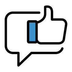See more icon inspiration related to like, chat, hand, social media, speech bubble, thumb up, communications, networking and hands and gestures on Flaticon.