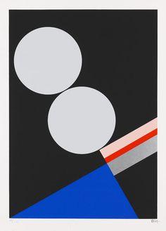 Walter Dexel — Komposition mit zwei hellen Scheiben (1929) #poster