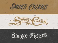 Cigar Type Options #typography #lettering