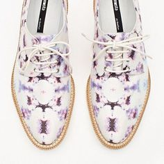 Oxfords on acid. #shoes #haze #oxfords #purple #fashion