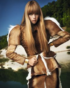 Edie Campbell by David Vasiljevic for Elle France #model #girl #photo #photography #fashion