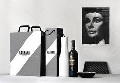 Gabbani's Modern Italian Branding #print #branding #monochrome #bag