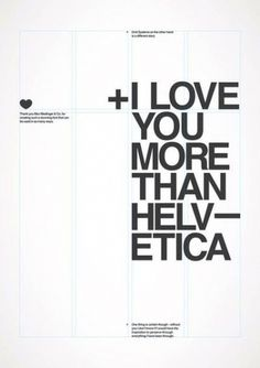 1957 ♥ #than #you #more #poster #helvetica #love