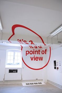 Anamorphic Typography on the Behance Network #red #of #clean #point #anamorphic #view #typography