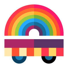 See more icon inspiration related to platform, float, pride parade, cultures, parade, celebration, transportation, wagon and transport on Flaticon.