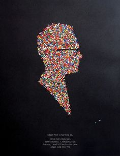 Allain's 40th Birthday - Projects - A Friend Of Mine #poster #silhouette #face #a #friend #of #mine #candies