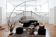 Photographer Idha Lindhag emmas designblogg #stairs #sofa #living #room