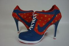 Nike Dunk SB Low Heels Red/Blue