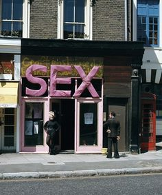 #Malcom McLaren and #VivienneWestwood's #SEX shop in Chelsea, #London (1974-1976)