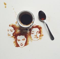 Unique Painting Art With Coffee by Giulia Bernardelli #art #Painting #ArtwithCoffee