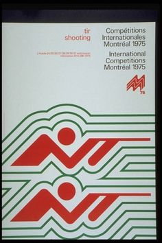 The CANADIAN DESIGN RESOURCE » Test Event Posters #1976 #events #print #design #poster #montral #olympics #test