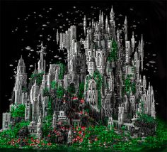 A 200,000 Piece Sci Fi LEGO Masterwork by Mike Doyle #legos #lego #art