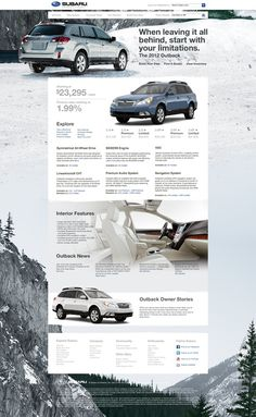 Subaru Concept Site on the Behance Network #website #white #automotive
