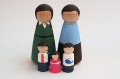 Design dla dzieci i nie tylko...: Figurki do malowania (Goose Grease) #toys #figures #wooden