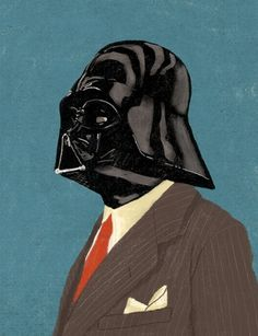 Star Wars Gentlemen от Chase Kunz | OSOMO #illustration #suit #wader