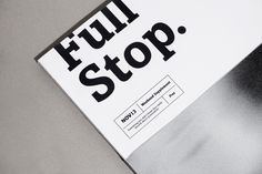 Full Stop. on Behance #magazine