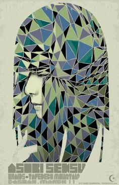 GigPosters.com - Asobi Seksu - Braids - Tapedeck Mountain #gig #design #poster