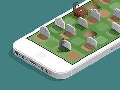iOS rip #illustration