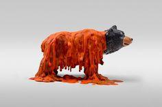 Dollar Store Animals   CMYBacon #bear #melt #toy #art