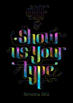 OFFF #lettering #showusyourtype #bubbles #color #black #iris #offf #type #typography