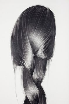 Hong Chun Zhang #hair #illustration #drawing #braid