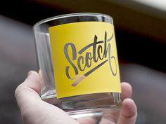 Scotch_drib #glass #lettering