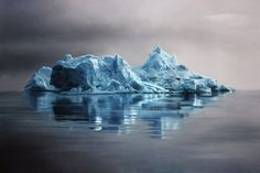 Photographed or Painted ? by Zaria Forman #draw #iceberg #picture #design #graphic #paintings #hand