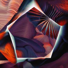 Plumes 3d digital generative artworks by Ari Weinkle design inspiration designblog www.mindsparklemag.com mindsparkle mag arty art digital g