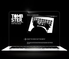 Tombster #animation #white #keyboard #black #and