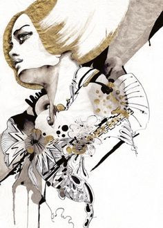 'Out Of Control'. Giclée Art Print by Naja Conrad-Hansen - Arte Limited #fashion #artwork #art