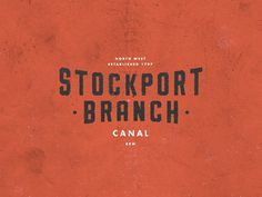 Canal C085 #mark #texture #logo #vintage #type #lost #typography