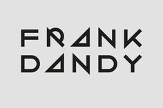 Frank Dandy — Kurppa Hosk #mark #word #design #graphic #type #geometric #logo #typography